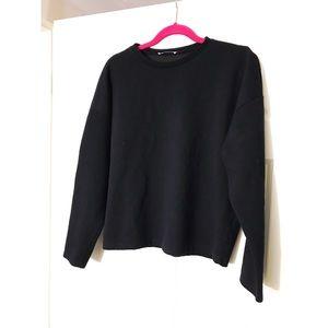 🆕 2 for $20 💖 ZARA Basics Black Crop Sweatshirt